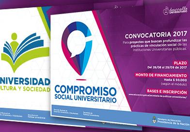 Convocatorias a proyectos de extensión universitaria