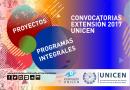 Convocatoria a programas y proyectos de extensión