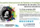 Cárceles y educación: será en  Chile el segundo encuentro