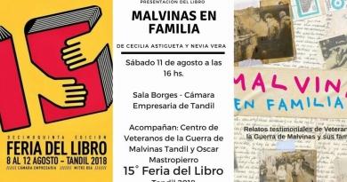 El libro Malvinas en Familia se presenta en la Feria