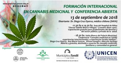Formación internacional en Cannnabis Medicinal y charla abierta, este jueves