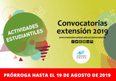 II Convocatoria a Actividades Estudiantiles de Extensión2019